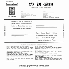 Dionysio — Sax em Orbita (1960) b