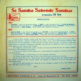 Cid Gray — Só Samba Sabendo Sambar (b)