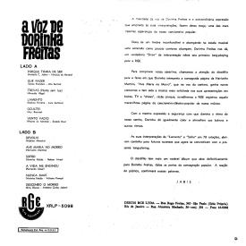 Dorinha Freitas — A Voz de Dorinha Freitas (b)