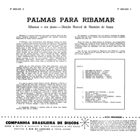 Ribamar — Palmas Para Ribamar e Seu Piano (b)