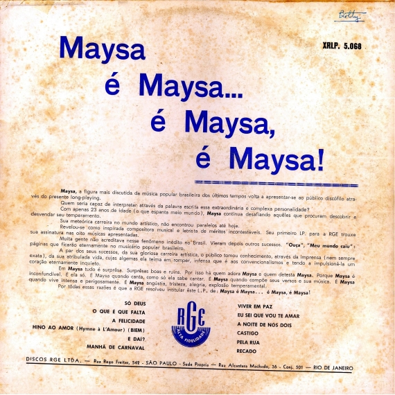 Maysa — Maysa é Maysa... é Maysa. É Maysa (b)