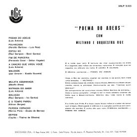 Miltinho — Poema do Adeus (b)