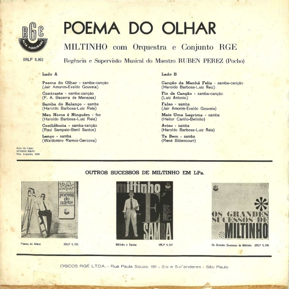 Miltinho — Poema do Olhar (b)