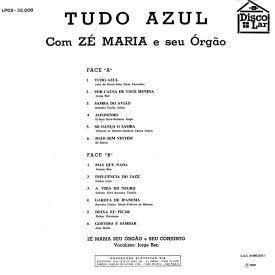 Zé Maria — Tudo Azul (reissue b)