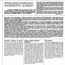 Zimbo Trio — Zimbo Trio (1964) (b)