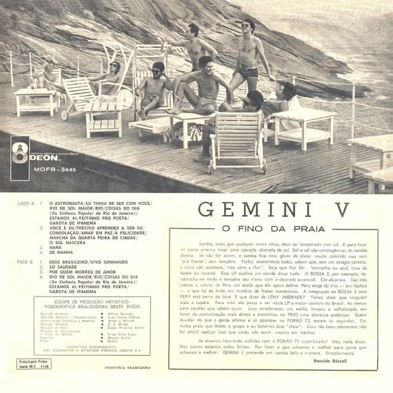 Leny Andrade, Pery Ribeirio, Bossa Três — Gemini V – Show na Boite Porão 73 (b)