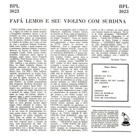 Fafá Lemos — Fafá Lemos e Seu Violino com Surdina (b)