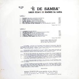 Carlos Cezar & Demônios da Garoa - É de Samba (1969) b