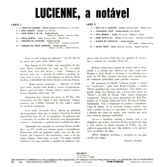 Lucienne Franco — A Notável (b)