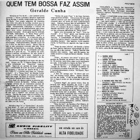 Geraldo Cunha - Quem Tem Bossa Faz Assim (1964) b