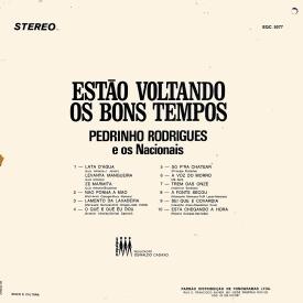 Pedrinho Rodrigues & Os Nacionais - Estão Voltando os Bons Tempos (1973) b