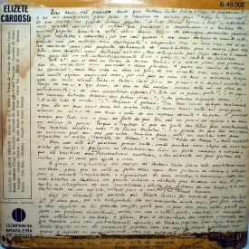 Elizeth Cardoso - Canção do Amor Demais (1958) b