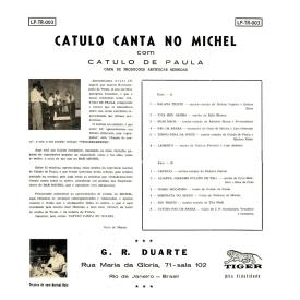Catulo de Paula - Catulo Canta no Michel (1959) b