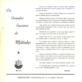 Miltinho - Os Grandes Successos de Miltinho (1962) b