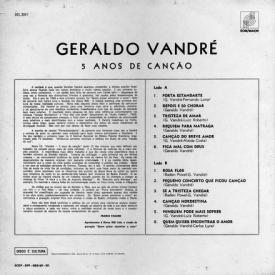 Geraldo Vandré - 5 Anos de Canção (1966) b