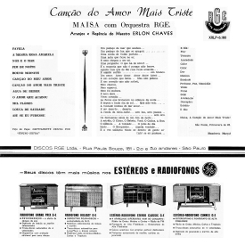 Maysa - Canção do Amor Mais Triste (1962) b
