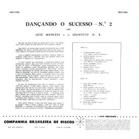 Quinteto OK & José Menezes - Dançando o Sucesso No. 2 (1959) b