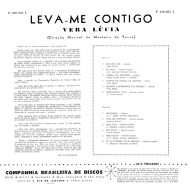 Vera Lúcia - Leva Me Contigo (1960) b