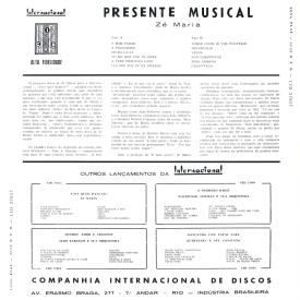 Zé Maria - Presente Musical (1959) b