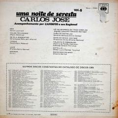 Carlos José - Uma Noite de Seresta – Vol. 5 (1970) b