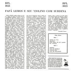 Fafá Lemos - Fafá Lemos e Seu Violino com Surdina (1956) b