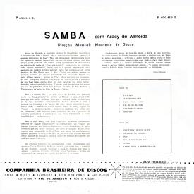 Aracy de Almeida - Samba com Aracy de Almeida (1960) b