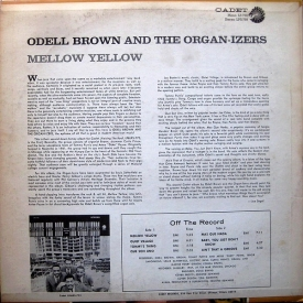 Odell Brown & The Organ-izers - Mellow Yellow (1967) b