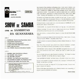 Os Sambistas da Guanabara - Show de Samba Vol. 2 (1964) b