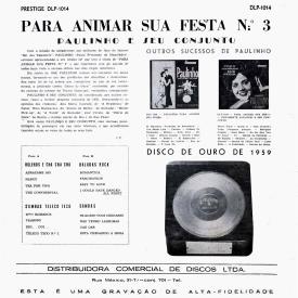 Paulinho - Para Animar Sua Festa N° 3 (1960) b