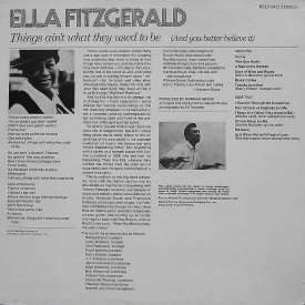 Ella Fitzgerald - Things Ain't What They Used To Be (And You Better Believe It) (1971) b