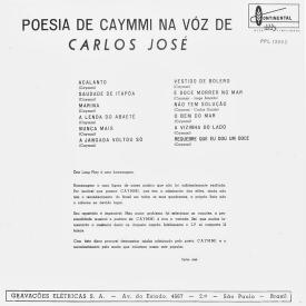 Carlos José - A Poesia de Caymmi na Voz de Carlos José (1964) b