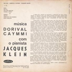 Jacques Klein - Músicas de Dorival Caymmi na Interpretação de Jacques Klein (1953) b