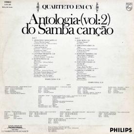 Quarteto em Cy - Antologia do Samba Canção Vol. 2 (1976) b