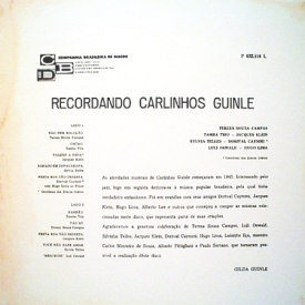 Various - Recordando Carlinhos Guinle (1962) b