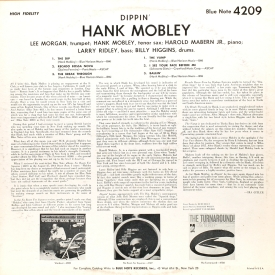 Hank Mobley - Dippin' (1965) b