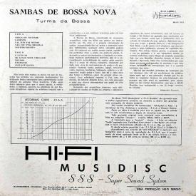 Turma da Bossa - Sambas de Bossa Nova (1959) b