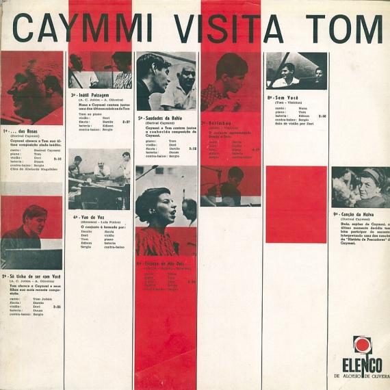 Antonio Carlos Jobim & Dorival Caymmi - Caymmi Visita Tom (1965, Elenco ME-17) b