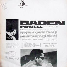 Baden Powell - Ao Vivo no Teatro Santa Rosa (1966, Elenco ME-30) b