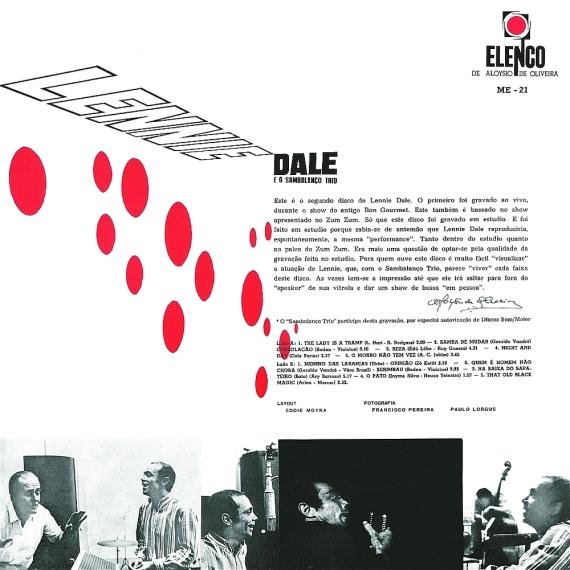 Lennie Dale & Sambalanço Trio - Lennie Dale e O Sambalanço Trio (1965, Elenco ME-21) b