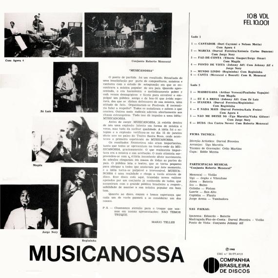 Various - Musicanossa (1968, Forma 108 VDL) b