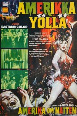 America di Notte (Finnish poster, 1961)