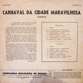 Various - Carnaval da Cidade Maravilhosa – 1961 (1961) b