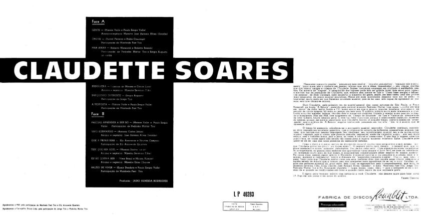 Claudette Soares - Claudette Soares (1965) b+c
