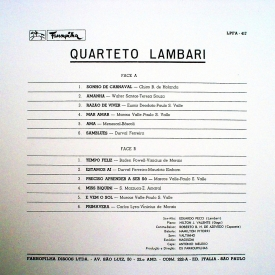 Quarteto Lambari - Quarteto Lambari (1966) b