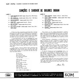 Marisa Gata Mansa & Denise Duran - Canções e Saudade de Dolores (1960) b