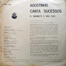 Agostinho dos Santos - Agostinho Canta Sucessos (1961) b