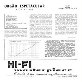 Ed Lincoln - Órgão Espetacular (1961) b