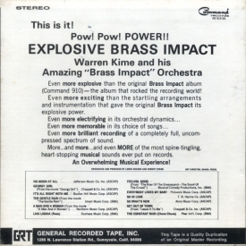 Warren Kime and his Brass Impact Orchestra - Explosive Brass Impact Vol. 2 (1967) b