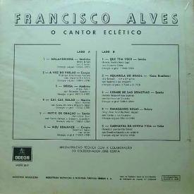 Francisco Alves - O Cantor Eclético (1969) b