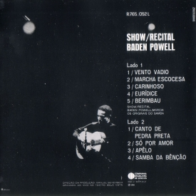 Baden Powell, Márcia & Os Originais do Samba - Show-Recital (1968) b
